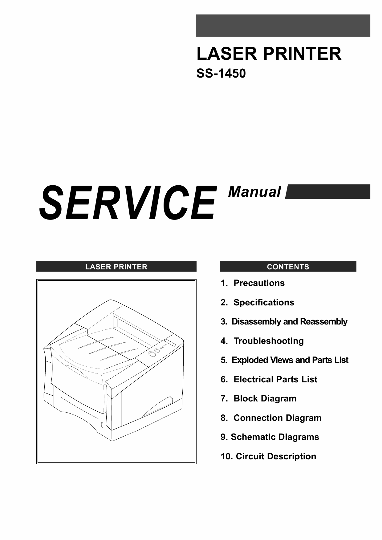 Samsung Laser-Printer SS-1450 Parts and Service Manual-1